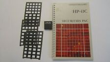 HP41C/CV/CX Securities X Pac with overlay and manual