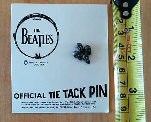 The Beatles Official Tie Tack Pin 1 Pin 4 Heads 1964 NEMS Enterprises Vintage