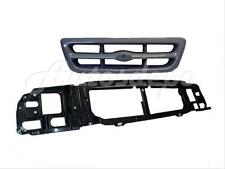 1998-2000 FORD RANGER HEADER MOUNTING PANEL GRILLE GREY 2PCS NEW