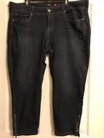 Torrid Denim Dark Wash Skinny Jeans Size 22 Ankle Zipper