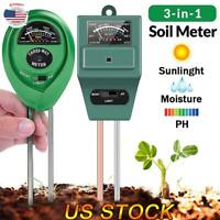 3in1 Soil Water Moisture PH Meter Acidity Humidity Sunlight Light PH Moist Test