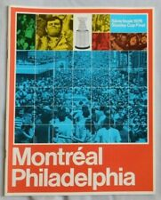 1976 Philadelphia Flyers Vs Montreal Canadiens Program Stanley Cup Finals
