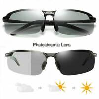 Photochromic Polarized Transition Lens Sunglasses Men Day Night Driving Glasses