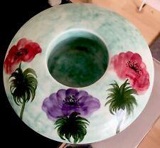 More details for vintage radford hand painted pottery mushroom posy vase 1930s 16.5 cm diameter