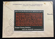 1940 Komancza Germany GG Dienstpost Cover To Markt Eisenstein Patriotic Label