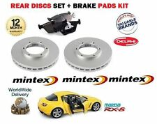 FOR MAZDA RX8 1.3i 2.6 2003-2008 NEW MINTEX REAR BRAKE DISCS SET + DISC PAD KIT