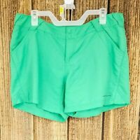 Columbia Large Women's Green Mint Omni Shade PFG Shorts Hiking Fishing Nylon L