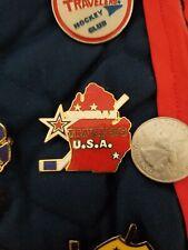 1980's Youth Hockey Enamel Collectors Pin Michigan Travelers Red Michigan Star