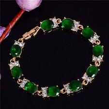 Fashion Woman Gold Plated Austrian Crystal Rhinestone Bracelet Chain Bangle Gift