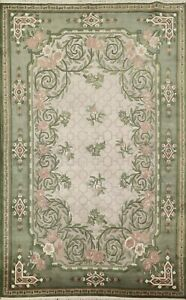 Transitional Floral Nepal Tibetan Oriental Area Rug Wool Hand-knotted 6x9 Carpet
