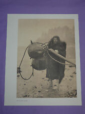 "Edward Curtis Native American Indian Vintage Photo Print ""THE WHALER - MAKAH"""