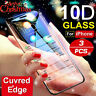 For IPhone X XS MAX XR 8 7 6 10D Full Cover Real Tempered Glass' Screen Prot wy