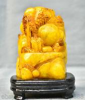 Chine Tianhuang Shoushan Sculpture Sur Pierre Vieil Homme Statue Sceau D'arbre
