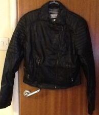 New ladies NEXT faux leather jacket size 10 Petite BLACK