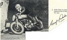 Geoff Duke - B&W Signed Magazine Page - UACC RD223