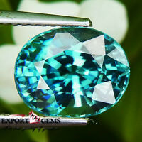 """5.84CT """"FULL LUSTER"""" BLUE COLOR NATURAL ZIRCON OVAL"""