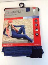 Womens Climate Right CuddlDuds Leggings Plush Warmth Size Small (6-8) Blue