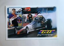 Gary Ormsby Jr Signed Autographed Redline Oil Dragster NHRA Photo Card N 592