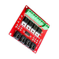 Red Switch Module Board MOSFET 4 Route Button Relay Control for   DIY