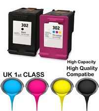 2 REMANUFATURED hp302 Bk&c High Capacity& Quality cartridge for HP printer