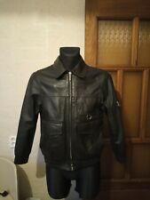 Vintage German Police Motorcycle Leather Jacket Polizei 1993 Häckel & CO/Münster