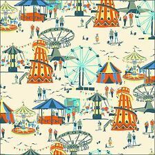 Funfair on Natural Cotton Fabric by Inprint at Makower