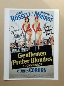 """JANE RUSSELL GEORGE WINSLOW  signed 11""""x8.5"""" PHOTO with UACC RD C.O.A certified"""