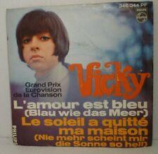 """VICKY (Leandros) - L'amour est bleu (Blau wie das Meer) = 7"""" Single Vinyl -VG++"""