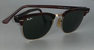 Vintage Ray Ban USA Bausch & Lomb W0366 B&L Tortoise Clubmaster Club Master 90s