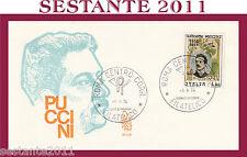 ITALIA FDC VENETIA 377 GIACOMO PUCCINI 1974 ANNULLO ROMA G531