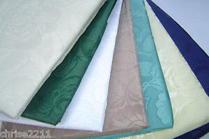 Damask Rose Tablecloths.  Easy Care, Various shapes sizes, Scallop Edge. Nice