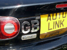 GB plate letters, polished s/s, self-adhesive stick on, stainless steel
