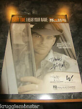 KEITH ANDERSON SIGNED AUTOGRAPHED EVERYTIME I HEAR YOUR NAME MUSIC BOOK