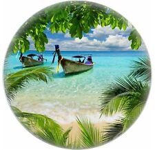 Tropical Beach Ceramic CABINET DRAWER Pull KNOB