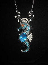 BETSEY JOHNSON JEWELS OF THE SEA  SEAHORSE LONG NECKLACE