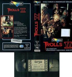 TROLLS II 2 DI CLAUDIO FRAGASSO 1990 VHS HORROR ORIGINALE MULTIVISION OTTIMA