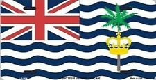"Aluminum National Flag British Indian Ocean Territory ""License Plate"" NEW"