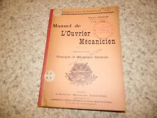 1904.Manuel ouvrier mécanicien.T1.Mécanique générale.Georges Franche