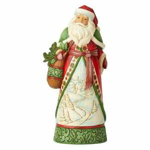 Jim Shore Heartwood Creek Santa Claus With Winter Scene Figurine BNIB 6004134