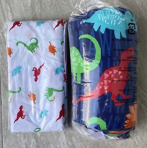 Dinosaur Pattern Navy Kids TWIN Size Bed In a Bag COMFORTER Sheet Set