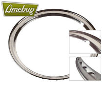 "15"" Smooth Beauty Rings Snap Clip Stainless Trim Wheel VW Beetle T2 Premium"
