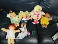 Set of 5 Vintage Cabbage Patch Dolls Clown Sailor and More