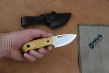 Helle Messer Mandra kleines handliches Jagdmesser mit Lederscheide f Jäger