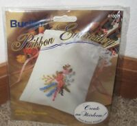 BUCILLA RIBBON EMBROIDERY DELICATE BLOOMS SACHET KIT #41007 NIP