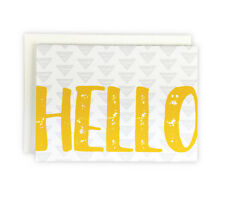 Hello Set of 10 Yellow Everyday Note Cards, Boxed Stationery Set
