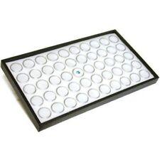 Mineral Display Case-Leatherette w/50 White Gem Jar Inserts