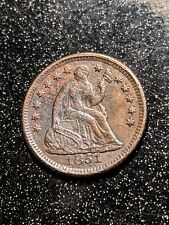 1851-O New Orleans Mint Seated Liberty Silver Half Dime Ch AU