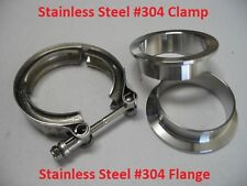 "3"" Turbo Exhaust Down Pipe Stainless Steel 304 V band Vband Clamp Flang kit"