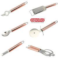 Copper Kitchen Utensil Pizza Cutter Peeler Grater Bottle Jar Opener Scoop Tool