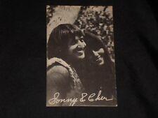 SONNY & CHER VINTAGE 1960'S EXHIBIT ROCK N' ROLL CARD